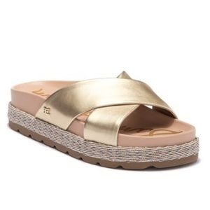 Sam Edelman Sadia Leather Slide Chunky Sandals